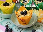 Muffins chocolate blanco arándanos blueberry white muffins