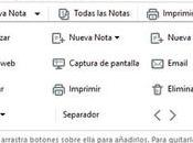 Evernote ergonomía. Personaliza aplicación