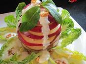 Ensalada milhojas manzana roja