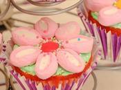 Cupcakes flor nubes marsmallows