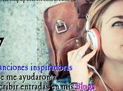 Canciones inspiradoras ayudaron escribir entradas blogs