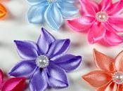 Flores cintas raso (Kanzashi)