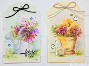 Faux freehand watercolor with Impressions stamps