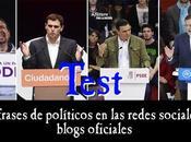Test frases sobre política redes sociales blogs oficiales