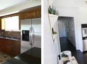 Antes/después cocina anticuada moderna brillante