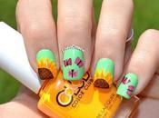 Nail Primaveral Girasoles Mariposas