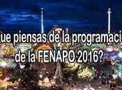 Encuesta: ¿Qué piensas programación FENAPO 2016