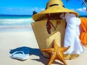 Preparando neceser vacaciones. cosméticos para verano