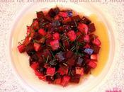 Ensalada remolacha, aguacate manzana