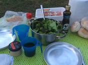 comer cuando camping?