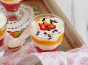 Gelatina frutas yogur
