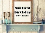 Invitaciones para Niños Tema Naútico Nautical Theme Birthday Invites.