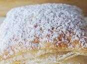Hojaldres rellenos crema pastelera Miguelitos