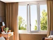 Cortinas textura seda natural para dormitorio principal