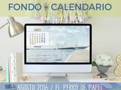 Fondos pantalla calendario para Agosto 2016