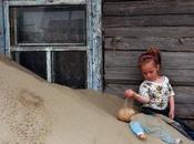 Viviendo bajo arena norte Rusia. fotografías.