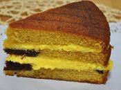 Bizcocho Vainilla Relleno chocolate Crema Pastelera
