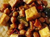 Salteado verduras garbanzos, tofu mijo