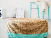 diy: taburete cost cuerda sisal color turquesa
