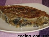 Tortilla berenjena champiñones