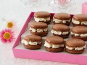 Macarons chocolate rellenos blanco