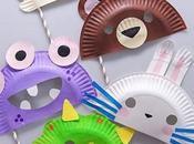 Manualidades para cumpleaños Máscaras platos desechables