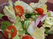 Receta ensalada sencilla vinagreta melocotón