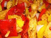 Brochetas Pollo Verduras receta