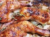 Piernas pollo asadas