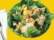 Kiwi Pollo Manzana Prepara Ensaladas Dieta