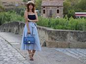 Sheinside: falda midi crop