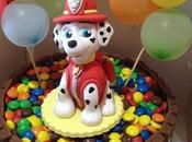Tarta modelado Marshall, oreos chocotransfer Patrulla canina bolas donut decoradas