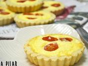 Tartaletas queso tomatitos cherry