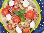 Ensalada quinoa tomate cherry mozzarella