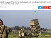 Interceptados misiles lanzados desde Siria.