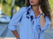 Camisa rayas bordado