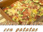 Anchoas horno patatas
