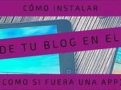 Cómo instalar icono blog tipo móvil
