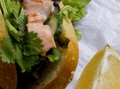 Sandwich salmon salsa tartara
