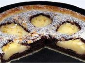 Tarta peras almendras chocolate