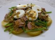Ensalada templada vinagreta pistachos