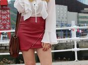 Minifalda roja para otoño