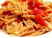 Spaghetti integral tomate cherry salteado