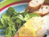 Receta Filete bacalao ensalada espinacas limón