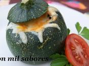 Calabacines luna rellenos salchichas frescas queso