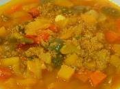 Sopa quinoa verduras receta fácil