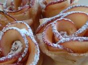 Rosas hojaldre manzana
