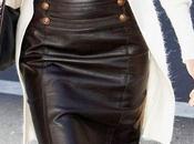 Faldas cuero negro