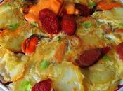 Tortilla patatas, mejillones chorizo