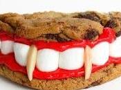 Dentadura vampiro hecha galletas